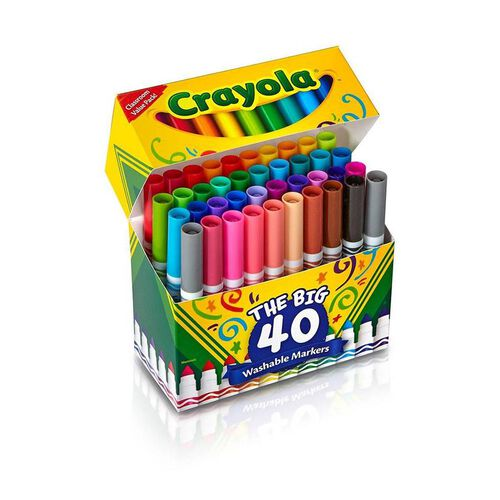 Crayola 40 Ultra-Clean Washable Broad Line Markers