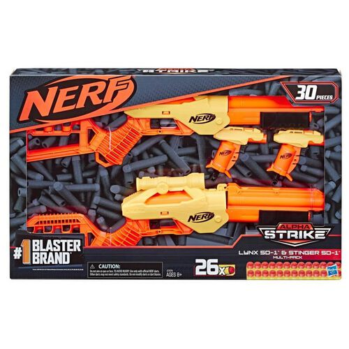 NERF Alpha Strike 30-Piece Lynx SD-1 and Stinger SD-1 Multi-Pack
