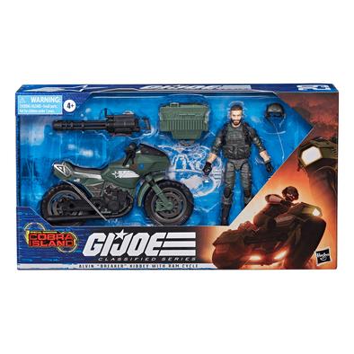 """G.I. Joe Classified Series Alvin """"Breaker"""" Kibbey With Ram Cycle"""