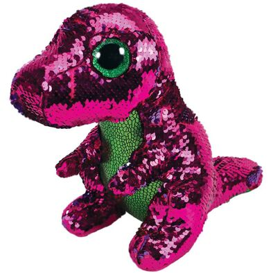 Ty Flippables 13 Inch Stompy Sequin Dinosaur