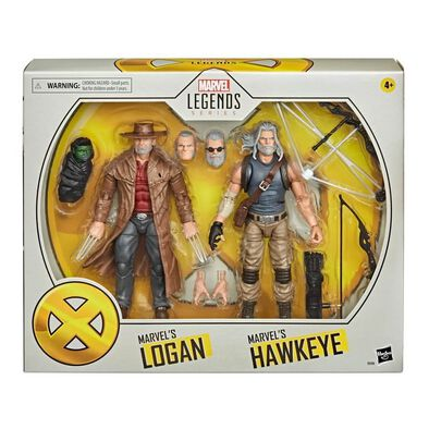 Marvel Legends Series X-Men Hawkeye and Logan