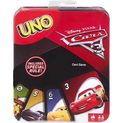 Disney Pixar Cars Uno Card Game Tin