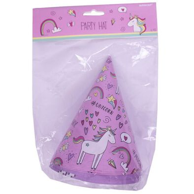 Amscan Paper Party Hats 6 Pieces Unicorn