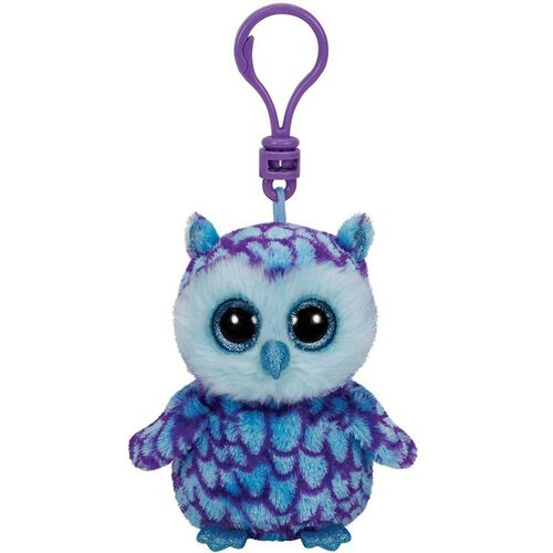Ty Beanie Boos 5 Inch Clip Oscar The Blue/Purple Owl