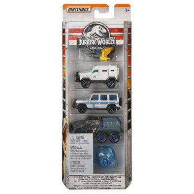 Jurassic World Matchbox Diecast 5-Pack - Assorted