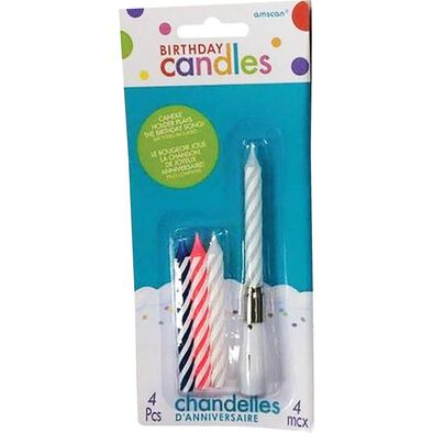Amscan Musical Birthday Candles With Refill