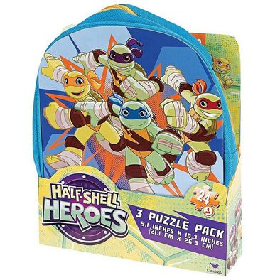 Half-Shell Heroes Carry And Go 3 Pack Puzzle Backpack - Assorted
