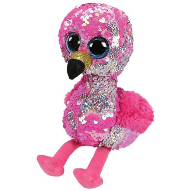 Ty Flippables 13 Inch Pinky Pink Sequin Flamingo