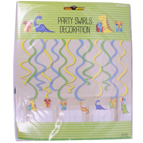 Amscan Party Swirls Decoration 13 Pieces (Dinosaurs)