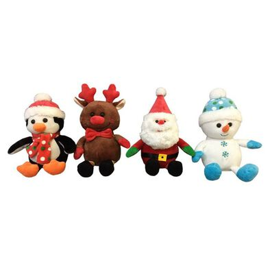 Animal Alley 8 Inch Christmas Soft Toy - Assorted