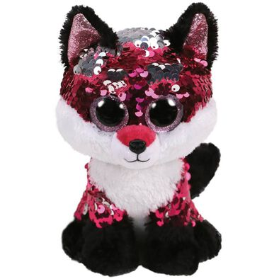 Ty Flippables 13 Inch Jewel Pink Sequin Fox