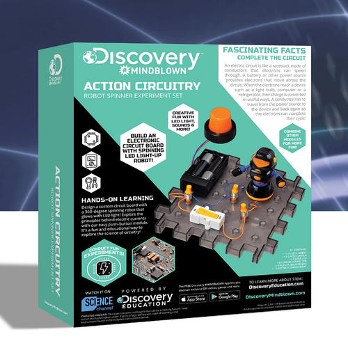 Discovery Mindblown Action Circuitry Robot Spinner Experiment Set
