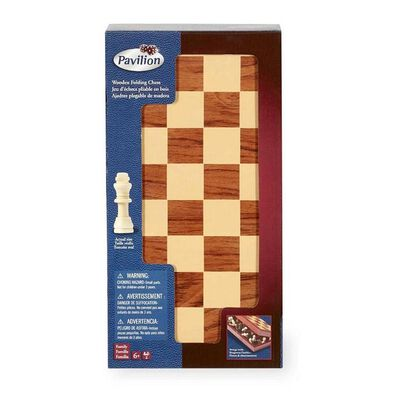 Pavilion Wooden Folding Chess Set