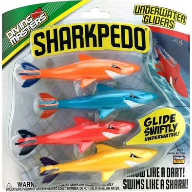 Diving Masters Sharkpedo 4 Pack - Assorted