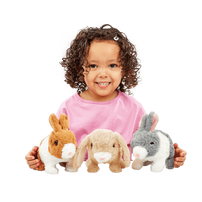Pitter Patter Pets Teeny Weeny Bunny Brown & White