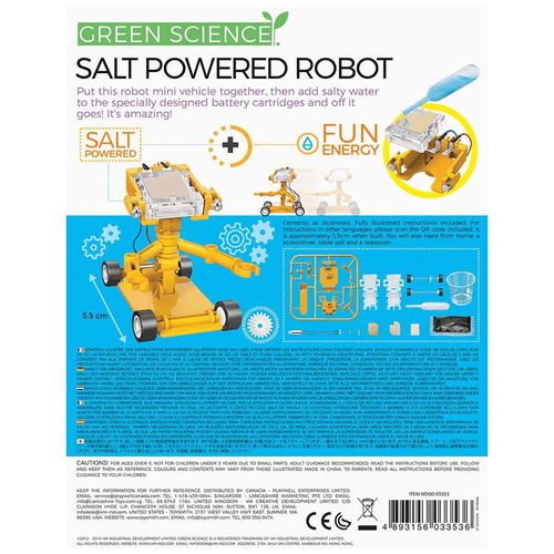 4M Green Science Salt-Powered Robot