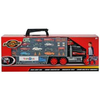 Fast Lane Truck Carry Case with 11 cars