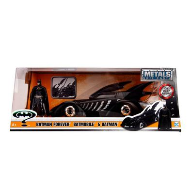 Metals Die Cast DC Comics Batman 1:24 1995 DC Comics Batman Forever Batmobile & Batman