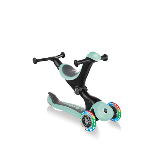 Globber Go•Up Deluxe Lights Pastel Green Toddler Scooter