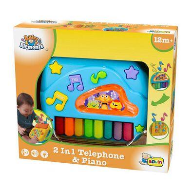 BRU 2 In 1 Telephone and Piano