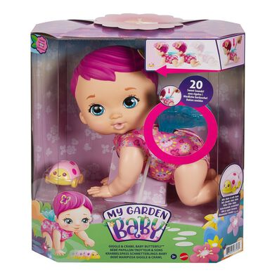 My Garden Baby Giggle & Crawl Baby Butterfly Doll