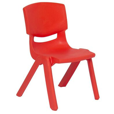 OCIE Deluxe Plastic Kid Chair Red
