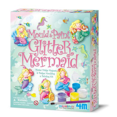4M Mould and Paint Glitter Mermaids