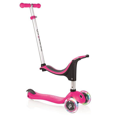 Globber Evo 4 In 1 Lights Pink Scooter