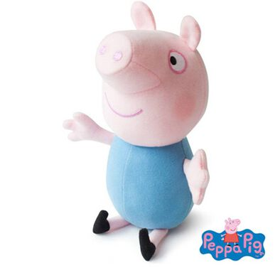 Peppa Pig 9 Inch George Blue Top Soft Toy (No Sound)