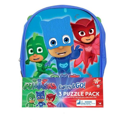 Paw Patrol Carry And Go 3 Pack Puzzle Backpack - Assorted