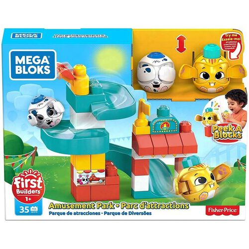 Mega Bloks First Builders Peek A Blocks Amusement Park