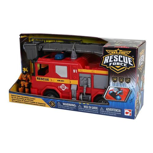 Rescue Force Fire Engine Playset