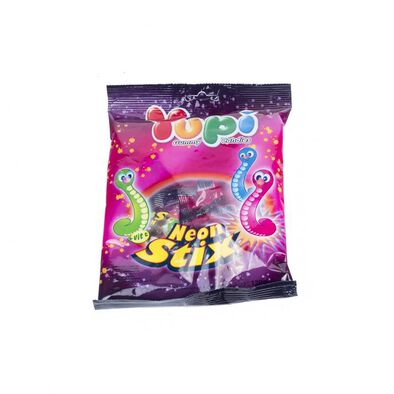Yupi Gummy Candies - Neon Stix 120G