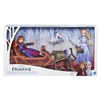 Disney Frozen 2 Sledding Sven and Sisters Elsa and Anna Fashion Dolls