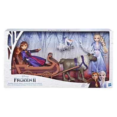 Disney Frozen 2 Sledding Sven and Sisters Elsa and Anna Fashion Dolls