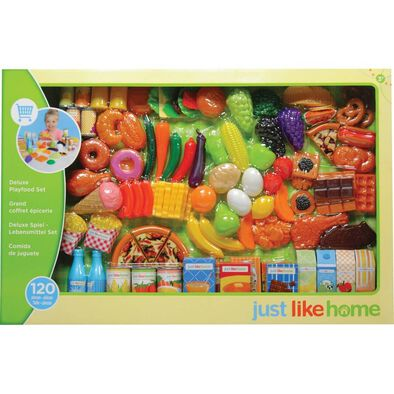 Just Like Home Play Food Set (120 Pcs)