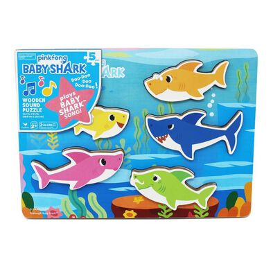 Pinkfong Baby Shark Chunky Wood Sound Puzzle