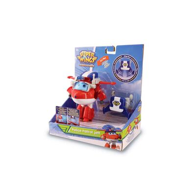 Super Wings Transforming Police Patrol Jett Deluxe