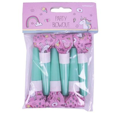 Amscan Party Blowouts 6 Pieces Unicorn