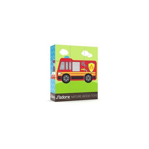 J'adore Vehicle Mini Blocks Puzzle - Assorted