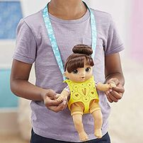 Baby Alive Littles Carry'n Go Squad Girl (Brown)