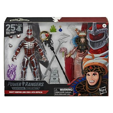 Power Rangers Lightning Collection Mighty Morphin Lord Zedd And Rita Repulsa 25th Wedding Anniversary 2 Pack 6 Inch Premium Collectible Toys