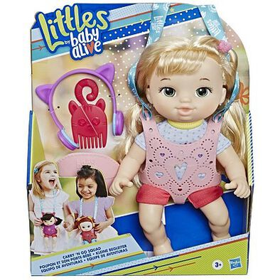 Baby Alive Littles Carry'n Go Squad Girl (Blonde)