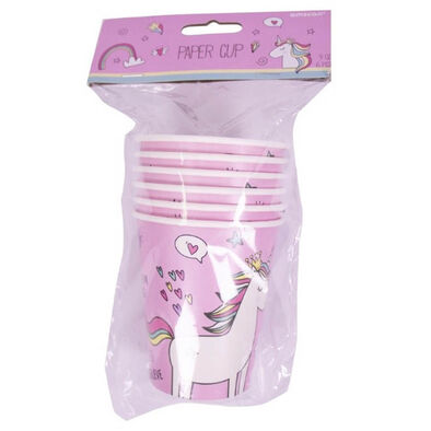 Amscan Paper Cups 9Oz 6 Pieces Unicorn