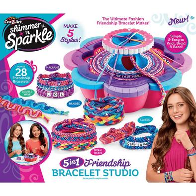 Cra-Z-Art Shimmer N Sparkle 5 In 1 Friendship Bracelets Studio