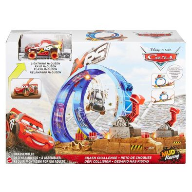 Disney Pixar Cars XRS Mud Racing Crash Challenge Playset